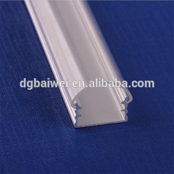 good anodize 6063-t5 aluminum profile and pc plastic cover for led rigid strip light housing