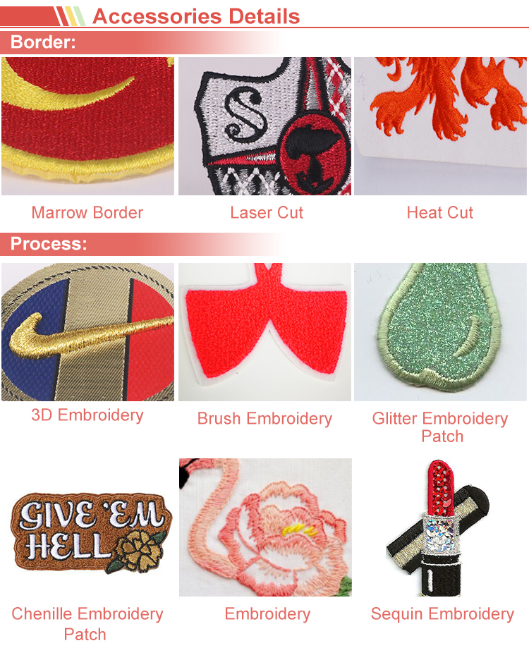 Durable Fabric Embroidered Patches Designs For Clothing For Girls