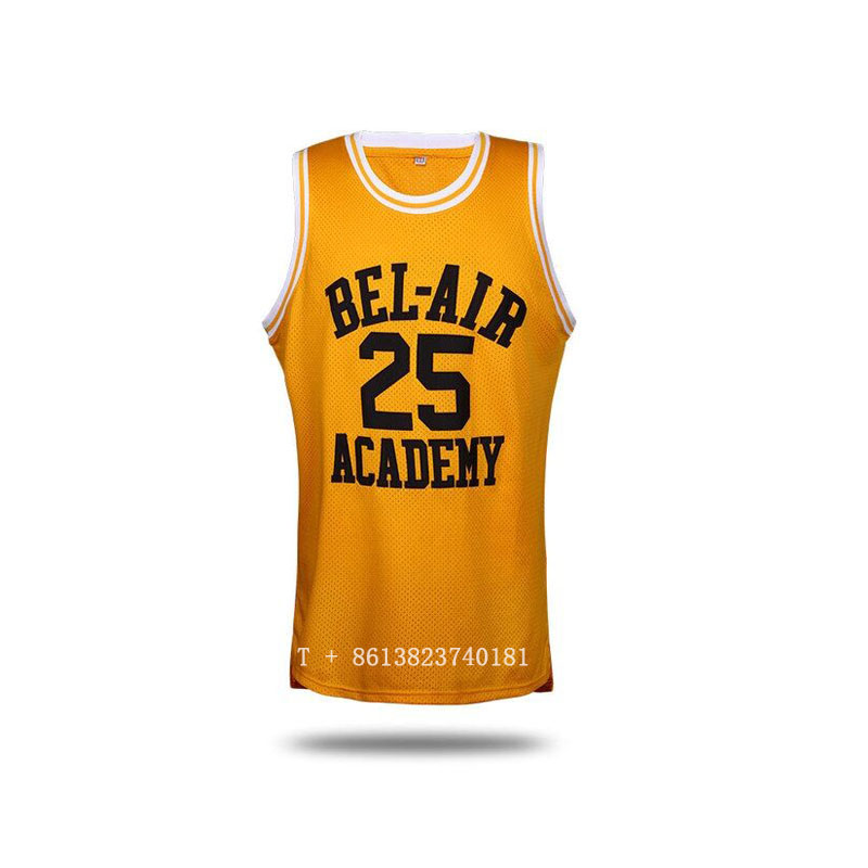 7c0b13e4c9fc Highest Quality Jersey Bel-Air Will Smith 14 Academy Tackle Twill  Basketball Jerseys
