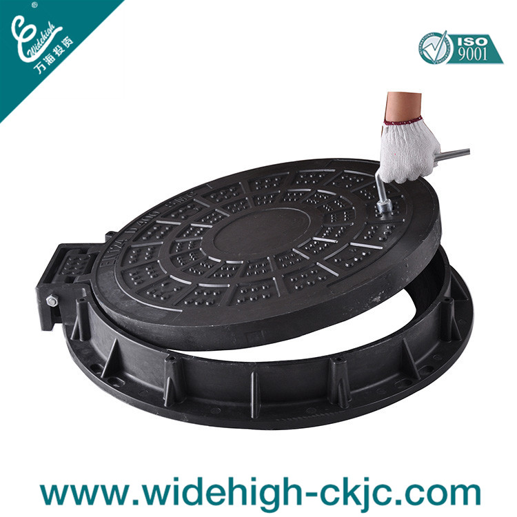 FRP/SMC/BMC Rubber Sealing Manhole Cover for Draining