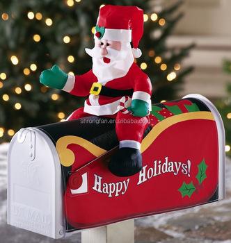 custom christmas decoration american santa mailbox covers
