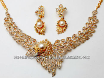 gold jewellery necklace gemstone designs heavy