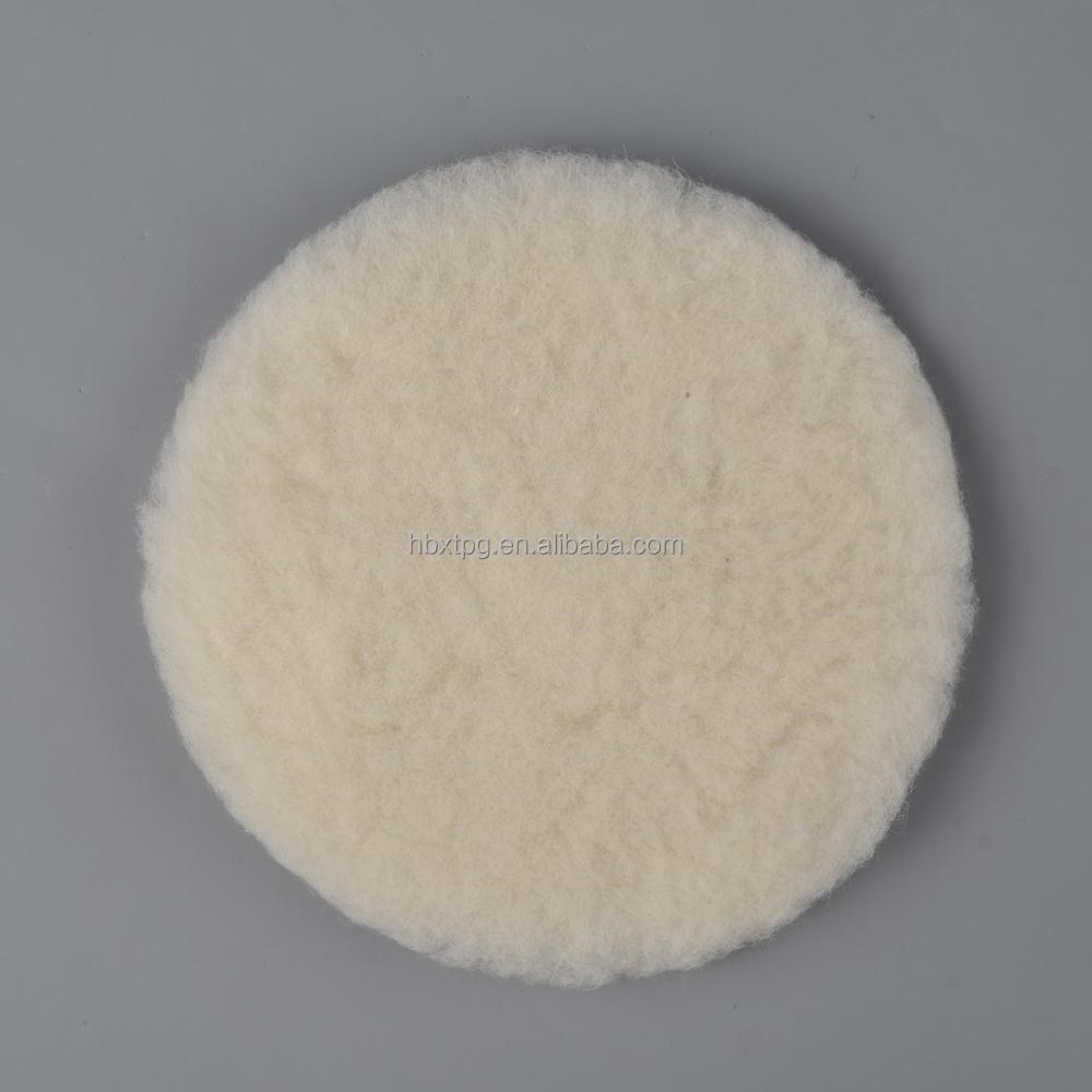 "Top grade 3""-9"" lambskin buffing pad pure wool Polishing Pad for car care"