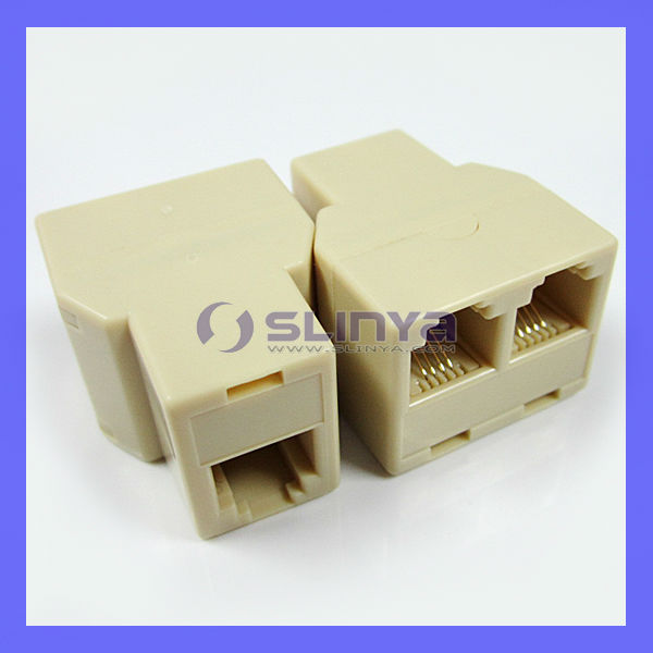 RJ-11 Connector Splitter Extender Plug Adapter