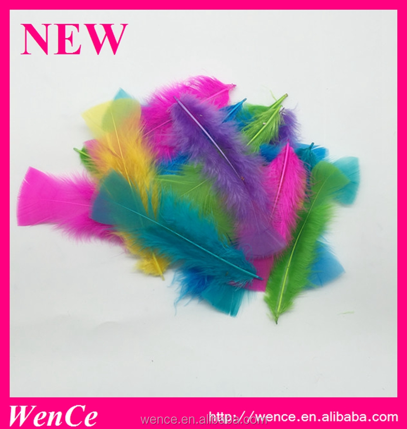 Factory Wholesale Bulk Mix Dyed Colorful Turkey Feathers