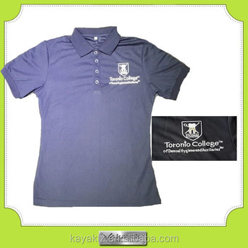 Navy Blue Comfortable Embroidery Logo Quick Dry Golf Shirt For Uniform Wear Shirts