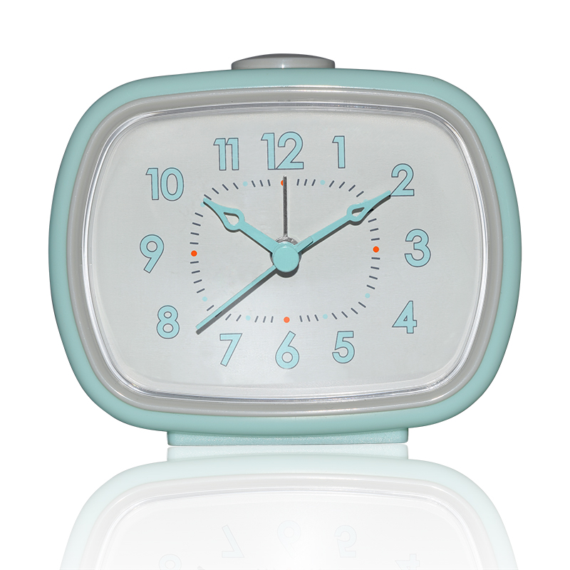 Attractive jelly color sweet table desk simple clocks collections