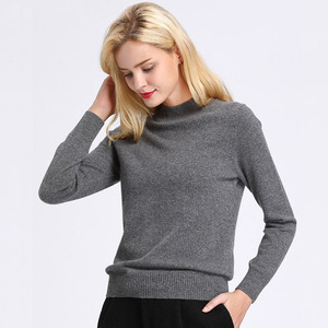 Custom Winter Cashmere Knit Sweater Women Wool Knitwear