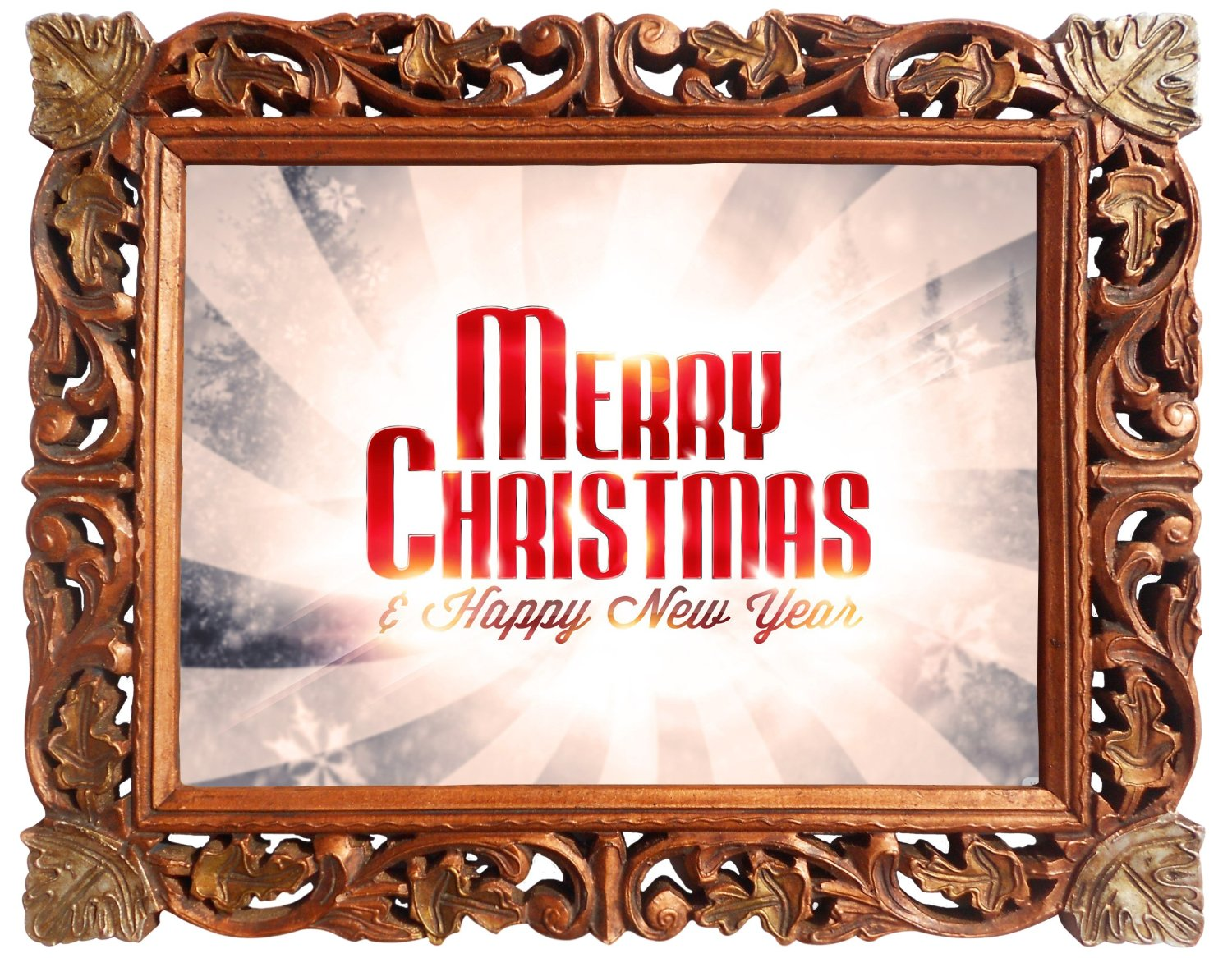 Get Quotations Merry Christmas Happy New Year Poster Framed In Wood Craft Frame Indian