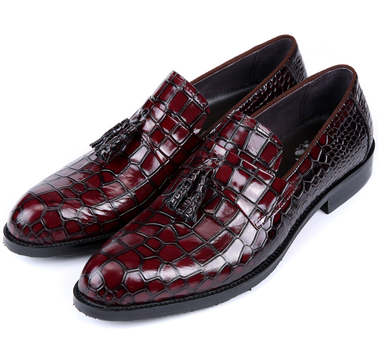 cfd9d71e2e22aa Buy Serpentine loafers Black  Brown tan mens wedding shoes party formal men  dress shoes genuine leather mens casual business shoes in Cheap Price on ...