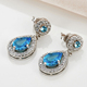 Hot Sale Big Blue Crystal Women Stainless Steel Earring, Fashion Rhinestone Earrings DAE0016