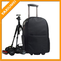 Fashionable trolley camera bag supplier laptop trolley bag
