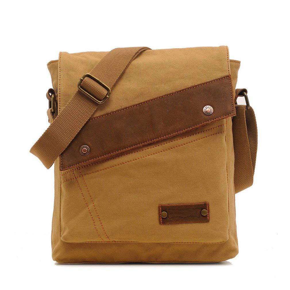 MCNFJD Vintage Men Canvas Messenger Bags Black Travel Bag Male Shoulder Crossbody Bag Classical