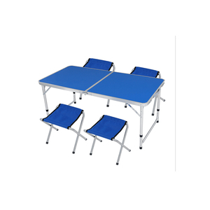 outdoor plastic portable picnic folding table of aluminum