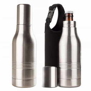 private label 12 oz custom drink portable bar vacuum insulated stainless steel water wine beer bottle cooler