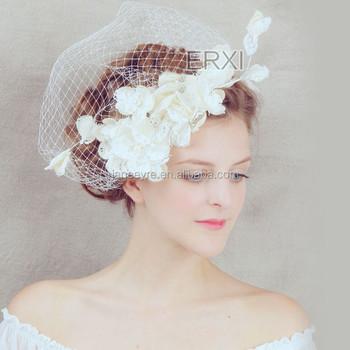 New Coming Handcraft Fascinator Birdcage Veil Wedding Bridal Hair  Accessories 1de5de595c9
