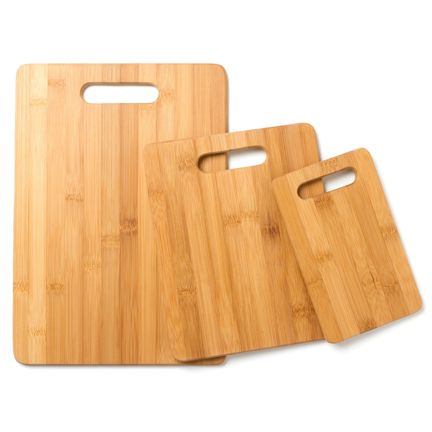 Cook's Corner 3-Piece Bamboo Cutting Board Set