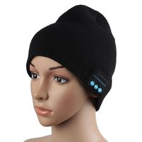 Rechargeable battery Stereo Headphones Microphone Bluetooth Beanie Hat
