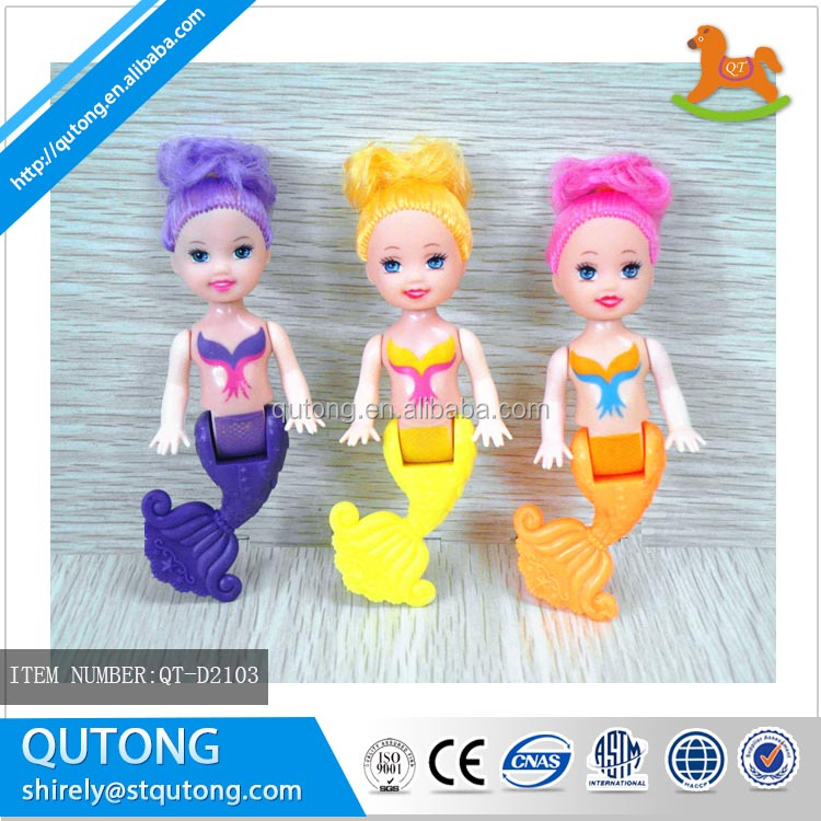 3.5inch cute mermaid doll in oppbag for promotion