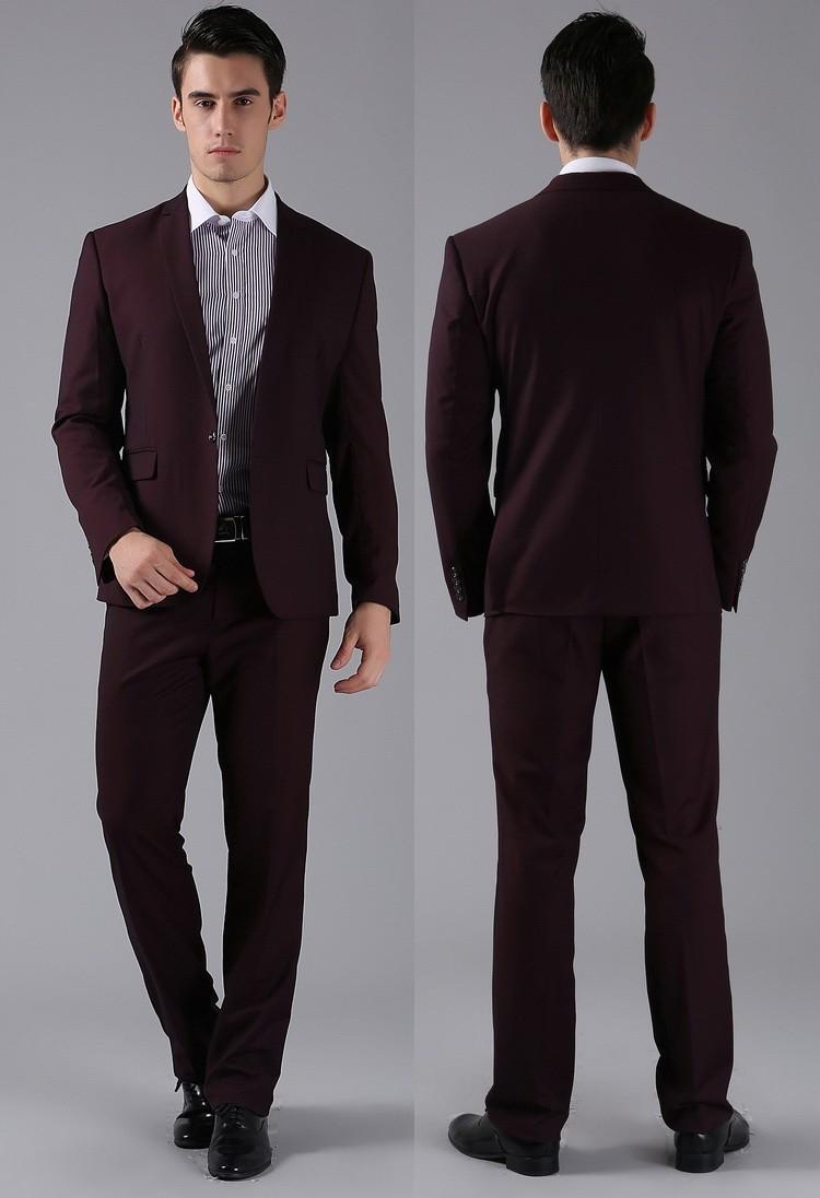(Kurtki + Spodnie) 2016 Nowych Mężczyzna Garnitury Slim Fit Niestandardowe Garnitury Smokingi Marka Moda Bridegroon Biznes Suknia Ślubna Blazer H0285 69