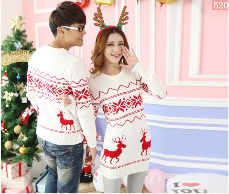 If Christmas is coming up, then what you need is some matching Christmas sweaters! When you go to sleep together, you can wear matching pajamas and sleep on matching pillowcases for couples! If you want to be extra silly together, try some matching underwear for couples, or matching onesies for couples! Then after you wake up, drink some coffee.