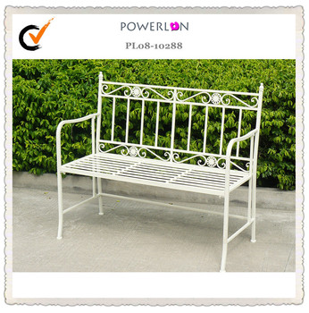 Uk Outdoor Vintage White Lifetime Faux Metal Glider Bench Iron Garden