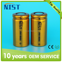 NEW! Rechargeable 18350 li ion battery 10.5A 900mAh 3.7v Nist 18350 battery