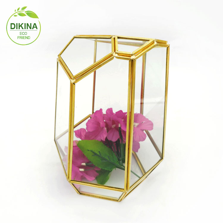 >< DIKINA Clear Glass Bell Cover Pot Landscape Terrarium Container Lid Vase Bottle /\ chinese crystal long glass vase