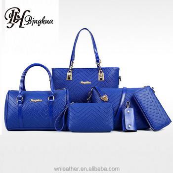 B-1226 2018 New Designer Elegant Pu Leather Handbag Women Bag Set ... 08ff8f2e2d2cc