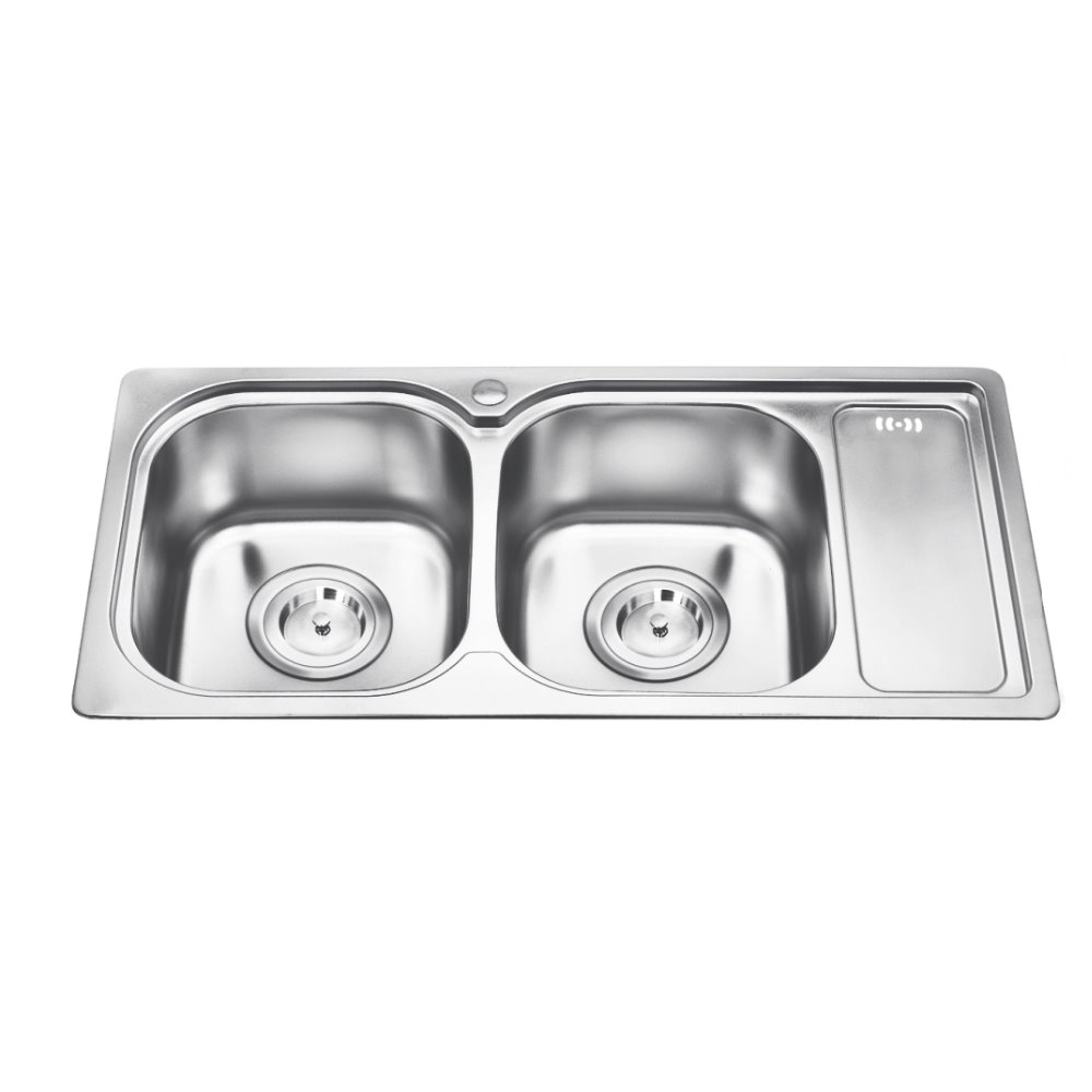 First Class Modern Double Bowl Perfect 304 Stainless Steel Above Counter  Kitchen Sink - Buy 304 Stainless Steel Kitchen Sink,Above Counter Kitchen  ...
