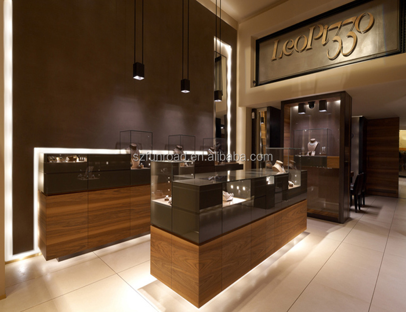 2018 commercial jewelry display showcase for jewelry shop decoration