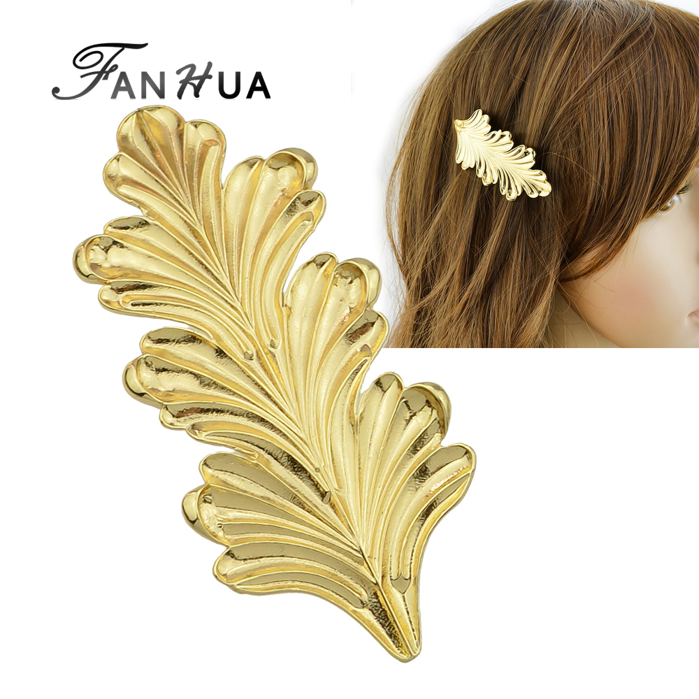 Fashion <strong>Hair</strong> <strong>Accessories</strong> for Women Gold Color Leaf Hairpins Hairwear <strong>Hair</strong> Jewelry