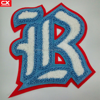 Custom Made Personalized Embroidery Chenille Letter With Special