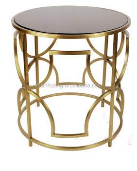 Hot Sale Round Rose Gold Coffee Table Living Room Furniture Stainless Steel Side Table Buy
