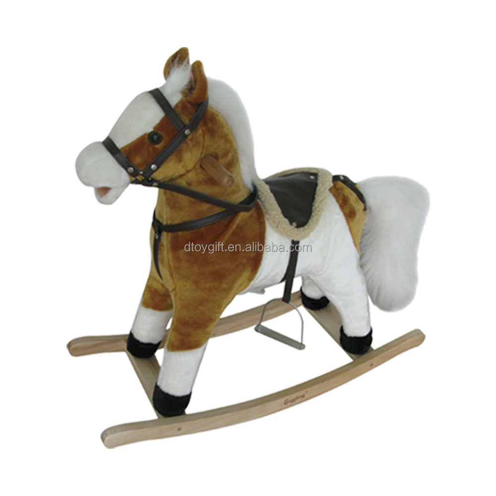 High Quality Kids Ride On Toy Pony Stuffed Plush Rocking Horse Toy