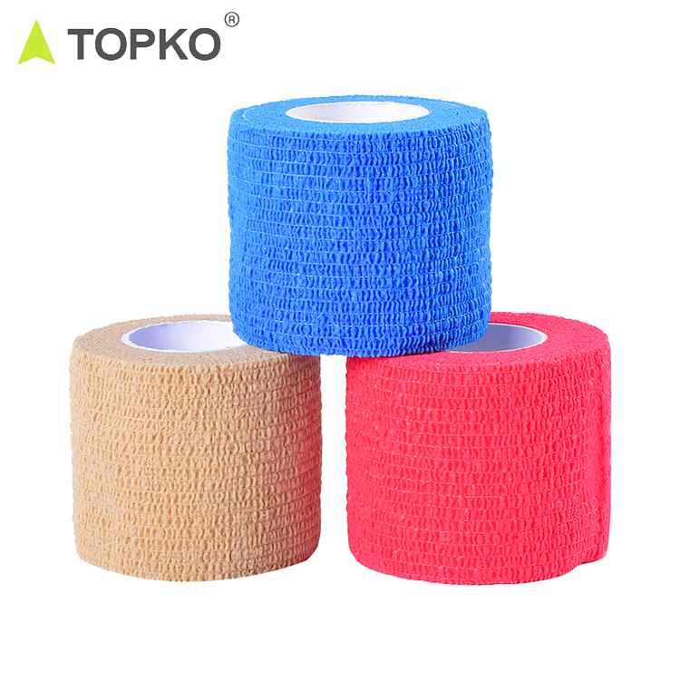 TOPKO self-adherent sports Pre wrap for athletic tape medical tape, Customized color available