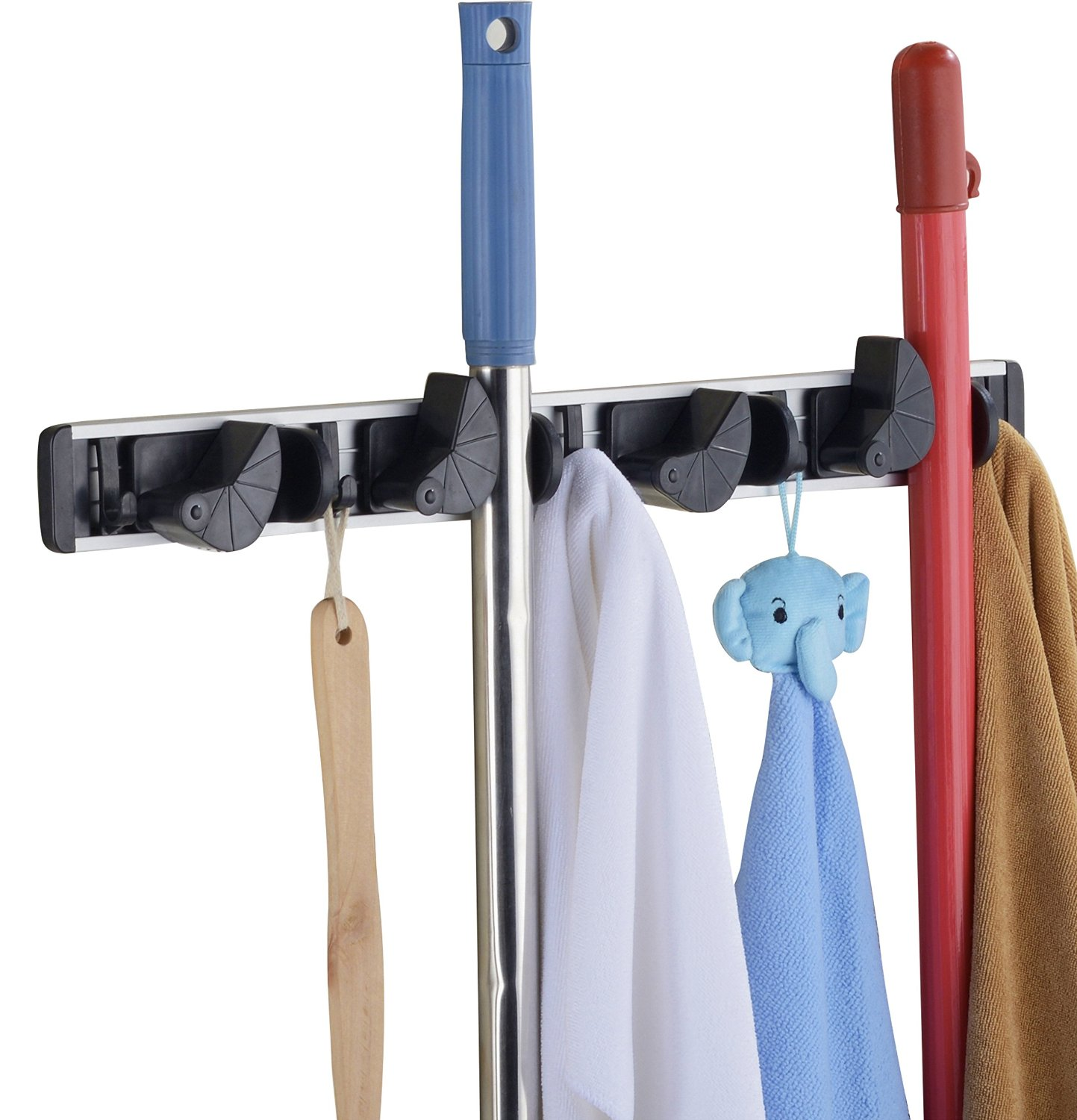 Get Quotations Cavoli Wall Bath Mounted Dust Mop Holders And Broom Organizer