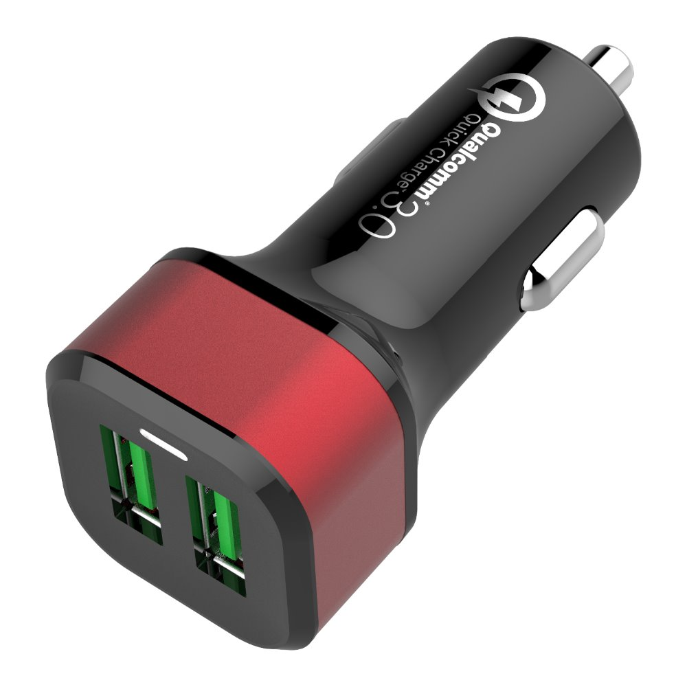 new arrival technology Dual QC3.0 usb power car chargers