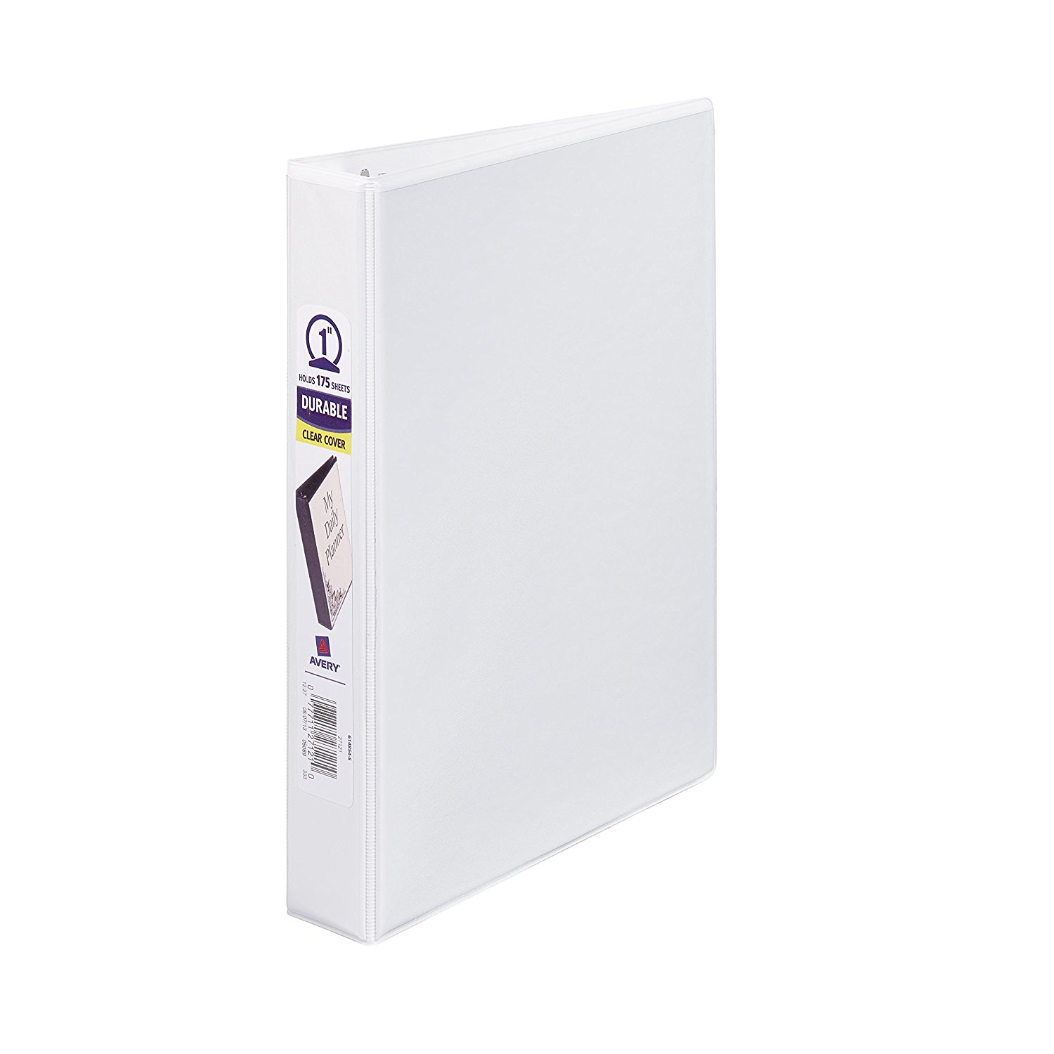 "Avery Mini Durable View Binder with 1"" Rings, 175-Sheet Capacity, White, 5-1/2"" x -1/2"" (27121)"