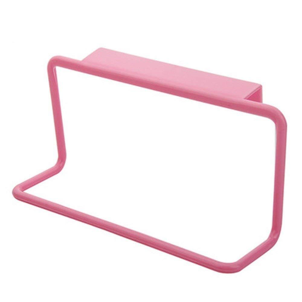 Nyalex - Towel Rack Hanging Holder Organizer Bathroom Kitchen Cabinet Cupboard Hanger hold towels cleaning rags cocina hanger mutfak [Pink ]