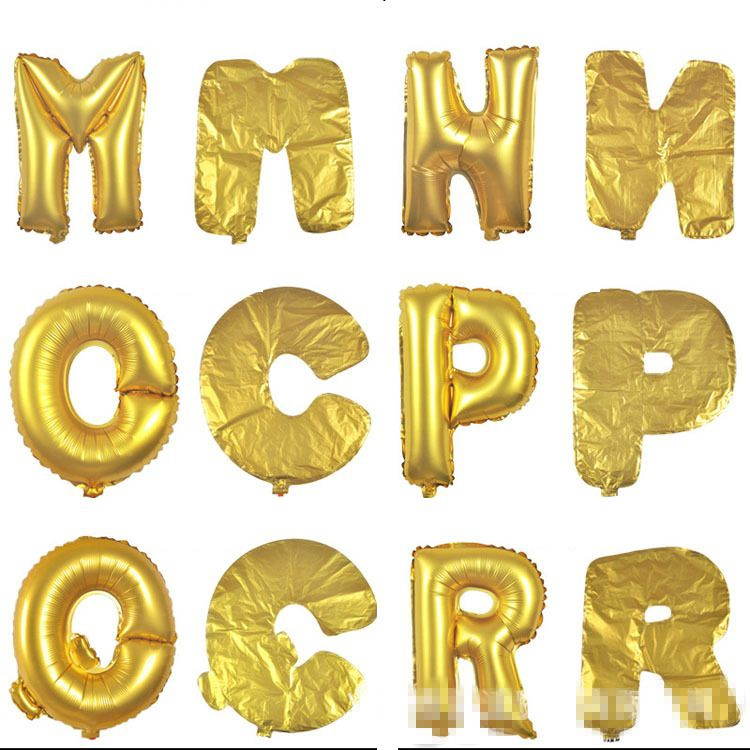 Gold Silver Number and Letter Foil Balloons Digit Helium Balloons Birthday Party Wedding Decor Air Balloons Event Party