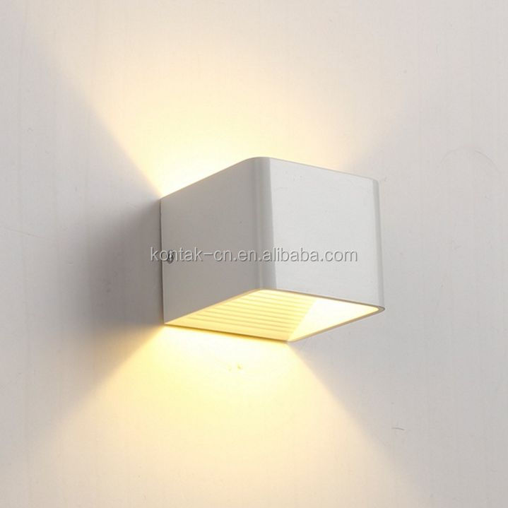 Square aluminum double head bedroom lamp made in china led wall lights