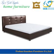 uso en el hogar moderno diseo dark brown cuero de la pu plataforma de la cama