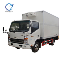 JAC refrigerator cooling van for sale,carrier units refrigerator truck 3-5Ton,refrigerator box truck