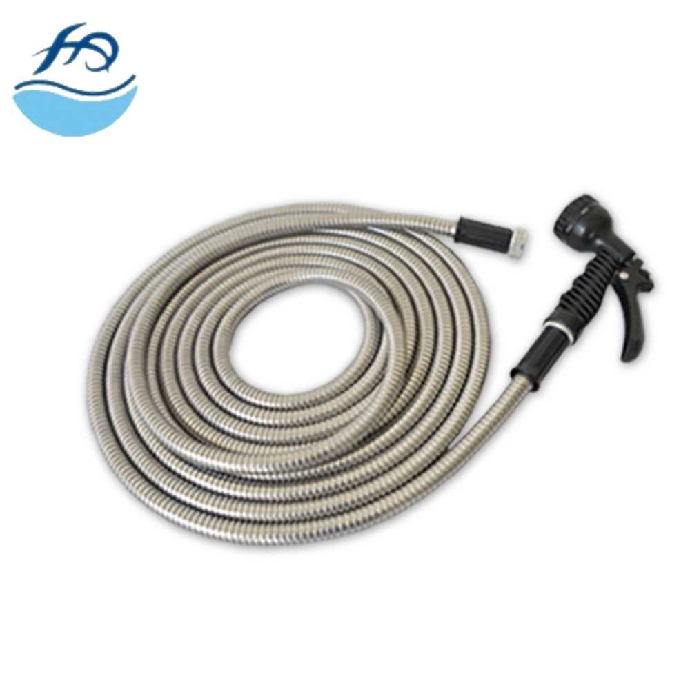 2017 china factory Stainless Steel Garden Hose pe lay flat hose