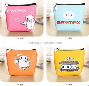 South Korea's canvas change purse Creative white mini cute little purse Children's bag zipper cortex coins PN5805