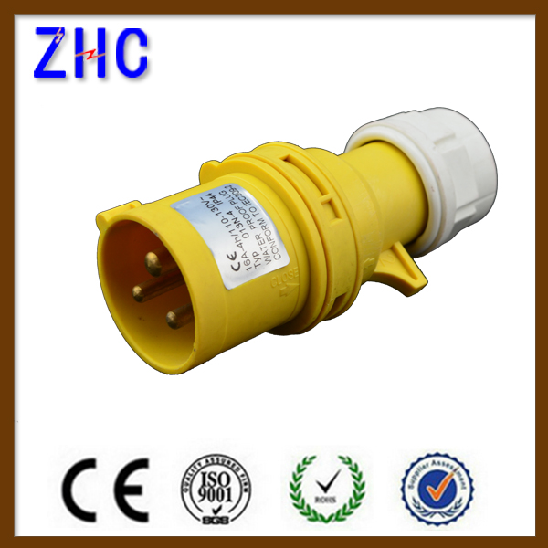 2015 Hot sell IP44 Water Proof 110V 16A 2P+E Earth Contact Position 4H CE Approval Waterproof Industrial <strong>plug</strong>