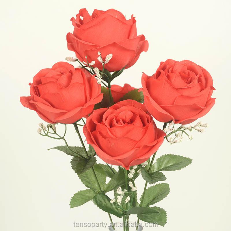 Fabrik direkt neue stil billig seidenstrauß blume künstliche blume handgemachte rose blume für die dekoration