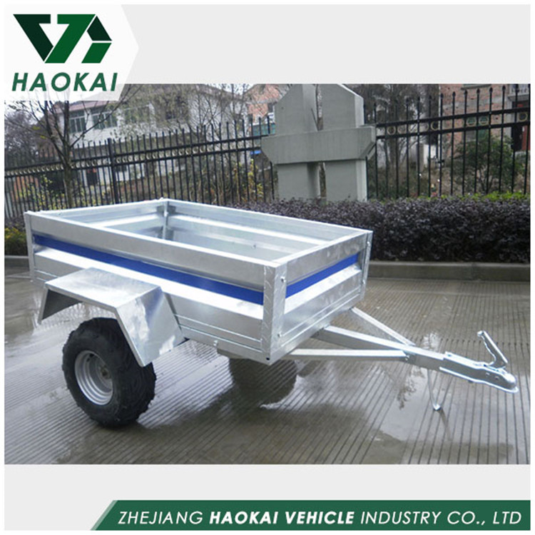 Latest design Galvanized Garden Truck 7x4 Box Trailer