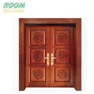 Simple Main Teak Wood Double Door Designs For Sales
